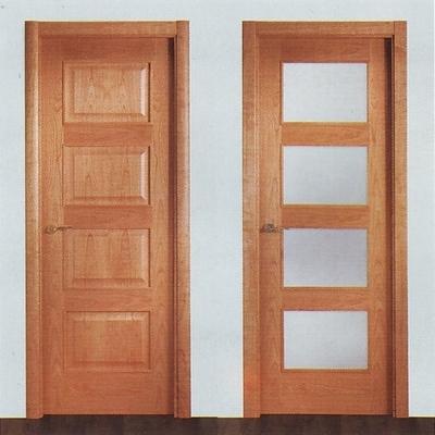 Puertas de interior carpinter a de madera for Puertas madera y cristal interior