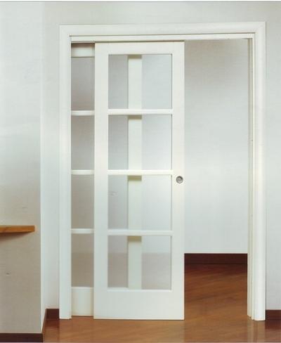 Premarcos para puertas de corredera carpinter a de madera for Puerta corrediza de madera